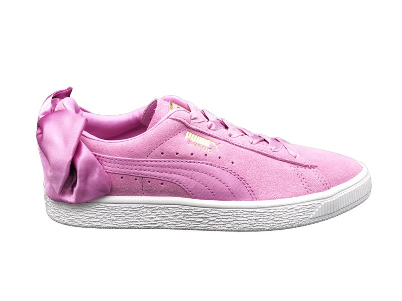 Jr 367316 Bianco 05 Bow Puma Suede Zapatillas Rosa qYCt4