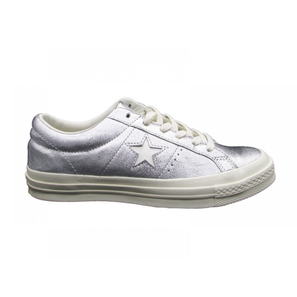 893076bb53a0 CONVERSE SNEAKERS ONE STAR OX GRIGIO LUCIDO 151590C - SNEAKERS DONNA ...