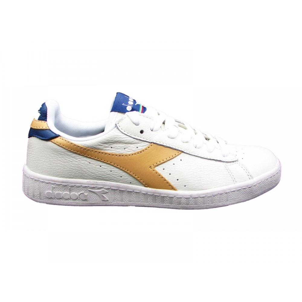 DIADORA SNEAKERS GAME L LOW WAXED PANNA ORO BLU 160821 C6258