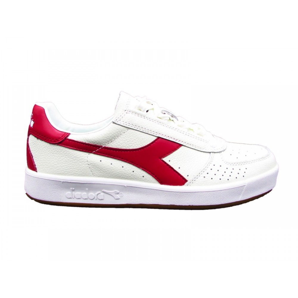 DIADORA B.ELITE L SNEAKERS BIANCO BORDEAUX 173090 C4620