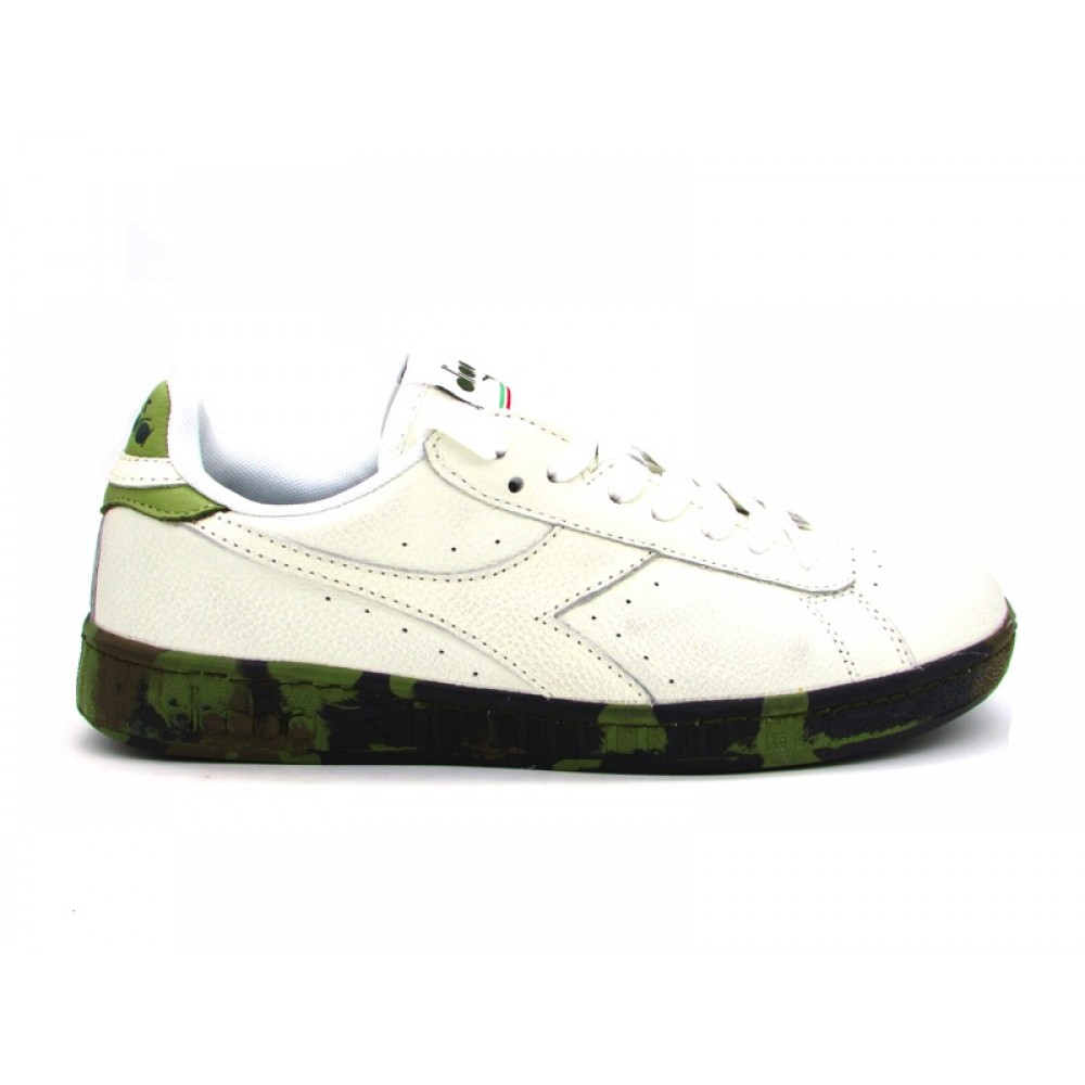 DIADORA SNEAKERS GAME LOW WAXED CAMOU BIANCO CAMOUFLAGE VINTAGE 173122 20006