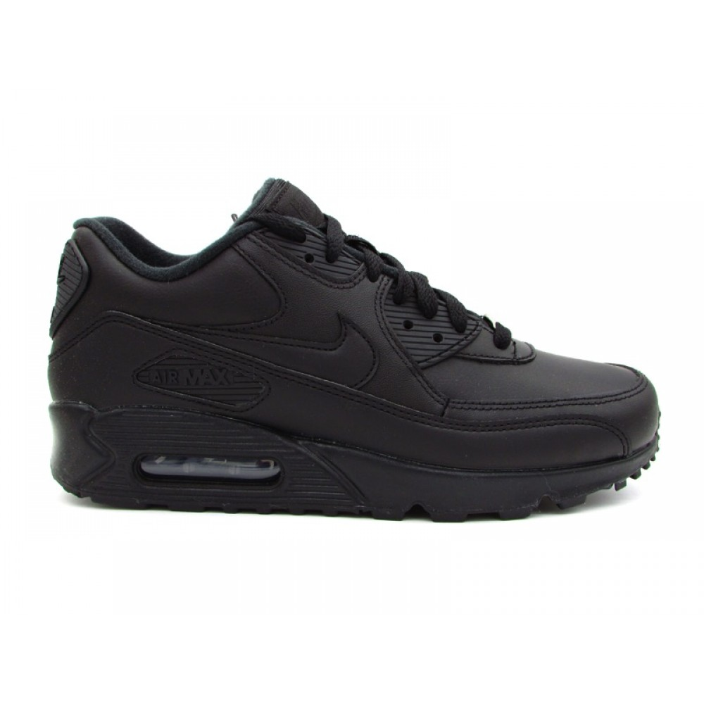 NIKE AIR MAX 90 LEATHER TOTAL BLACK 302519 001