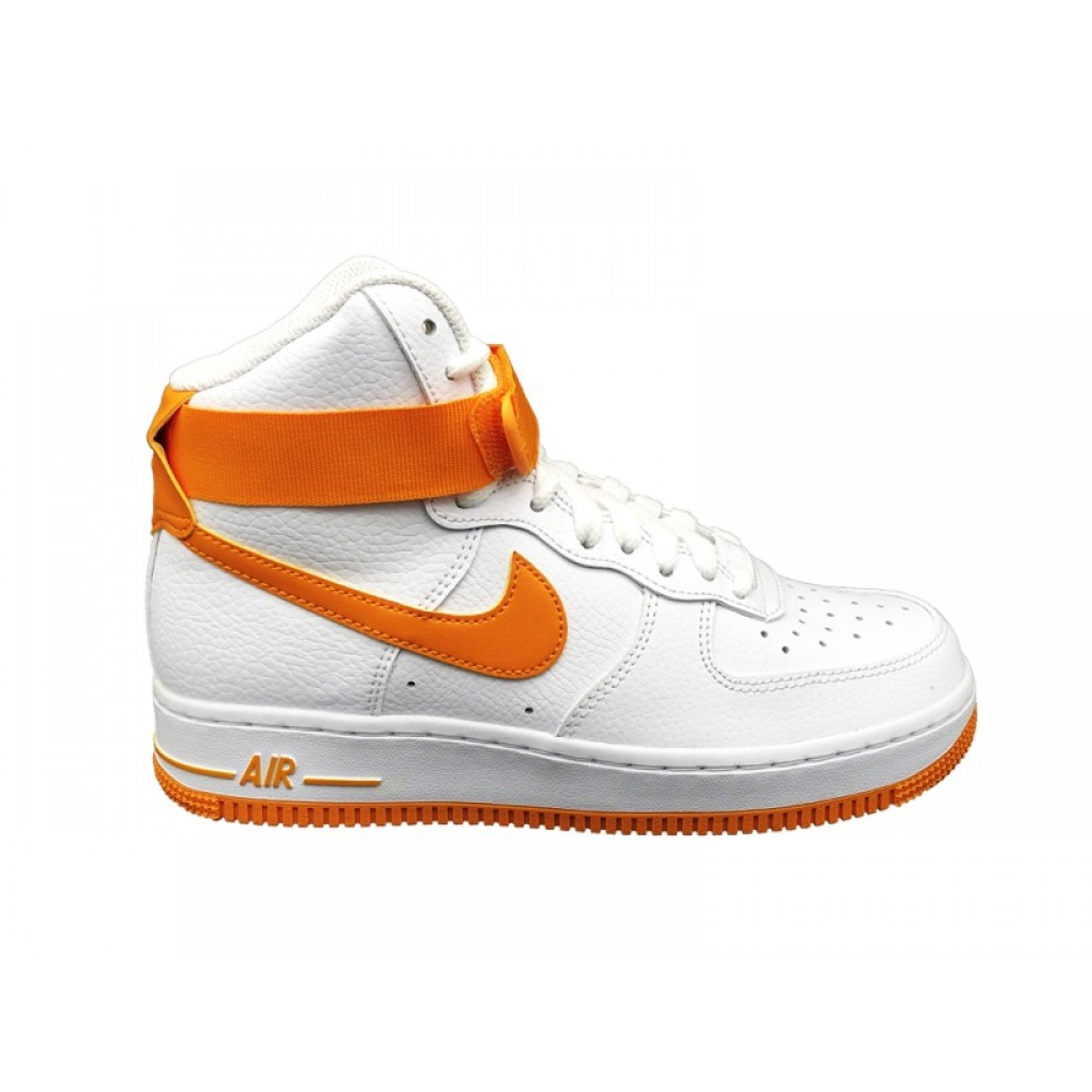 NIKE WMNS AIR FORCE 1 HIGH SNEAKERS BIANCO GIALLO 334031 109