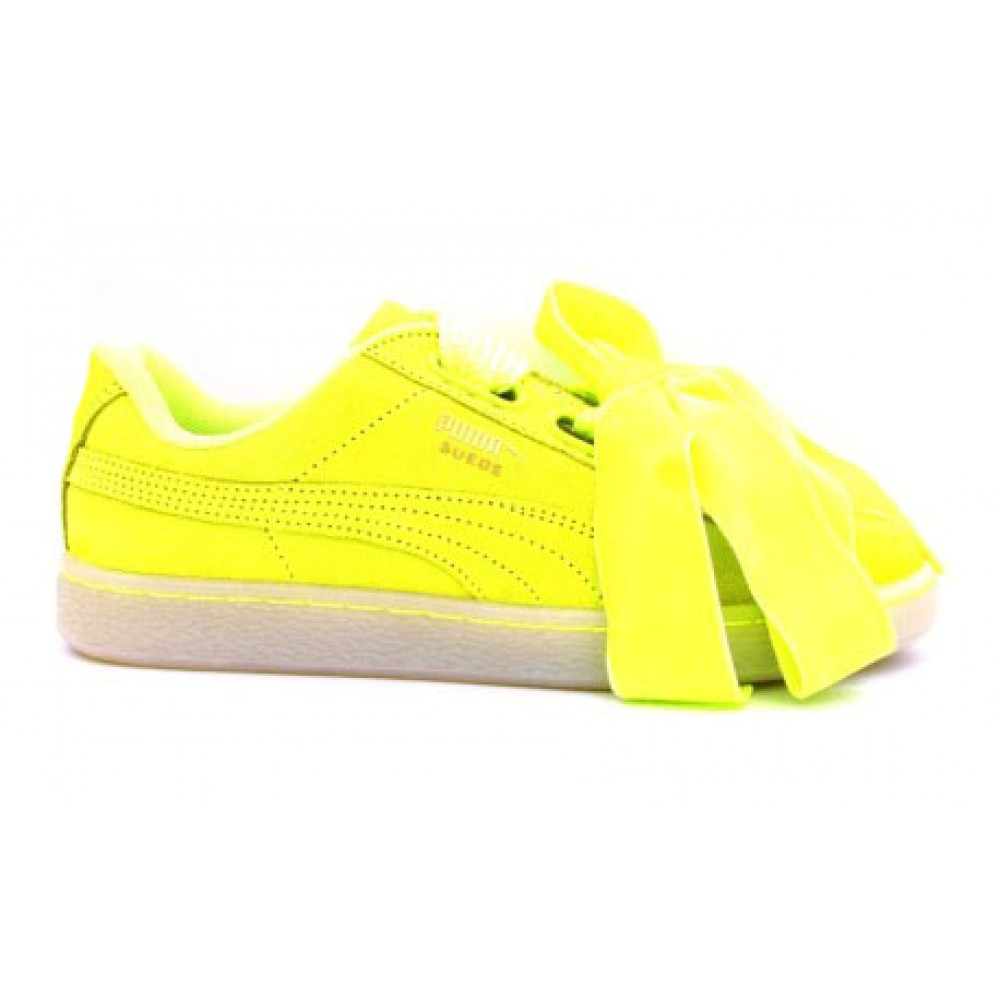 puma suede heart gialle