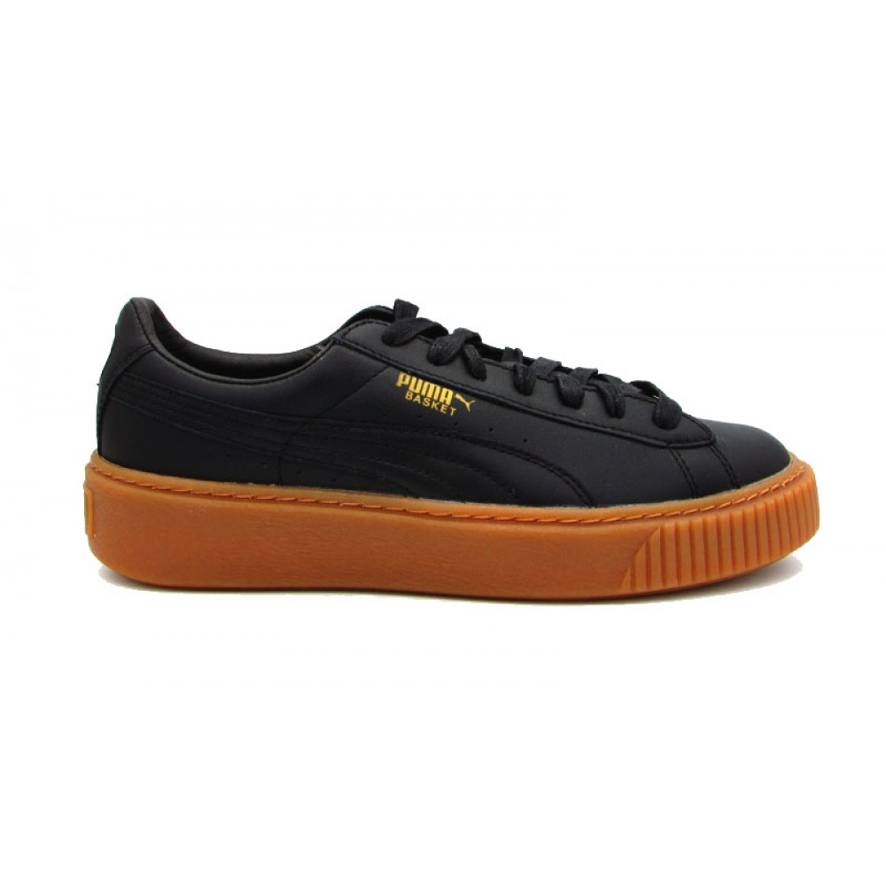 PUMA SNEAKERS BASKET PLATFORM CORE NERO MARRONE 364040 02