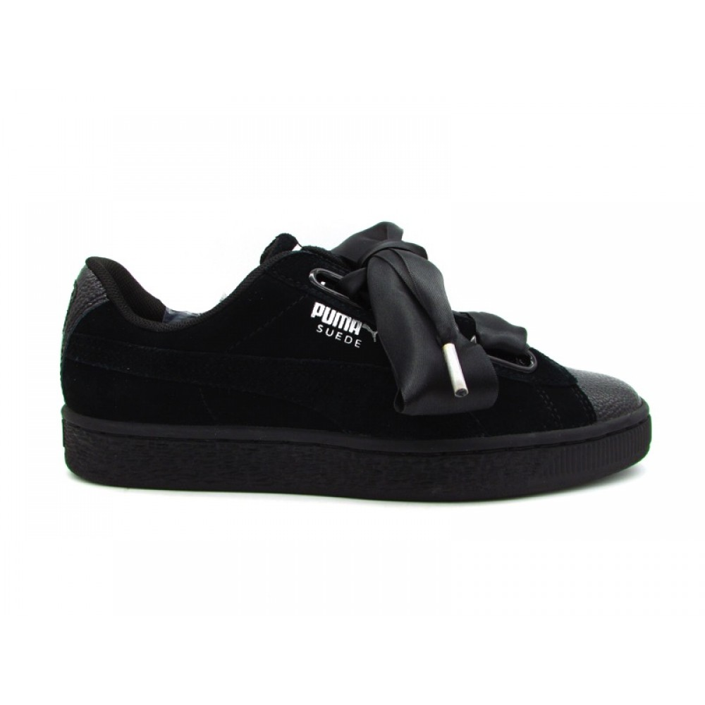 PUMA SUEDE HEART BIBBLE WN'S SNEAKERS NERO 366441 01