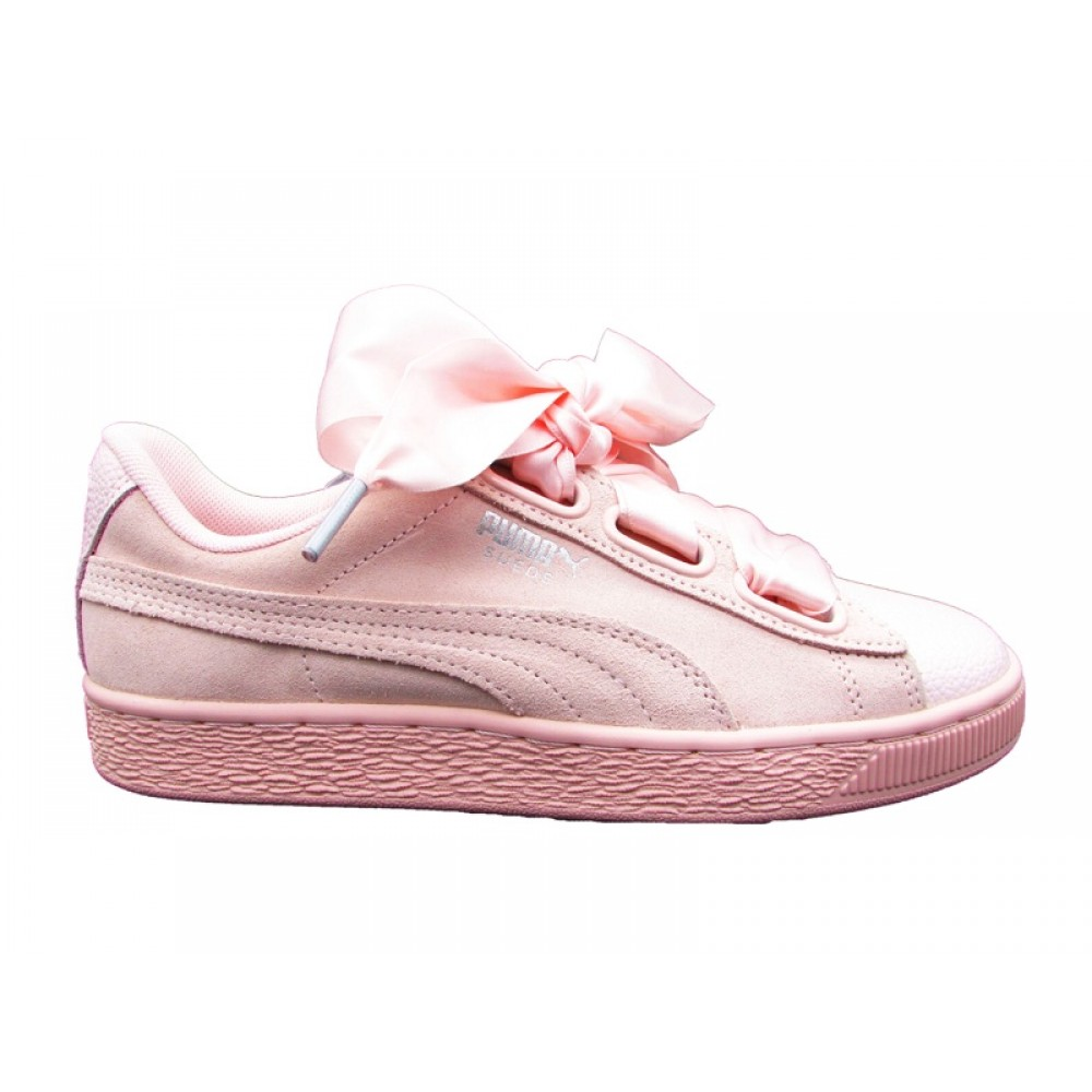PUMA SUEDE HEART BUBBLE WN'S SNEAKERS ROSA 366441 02
