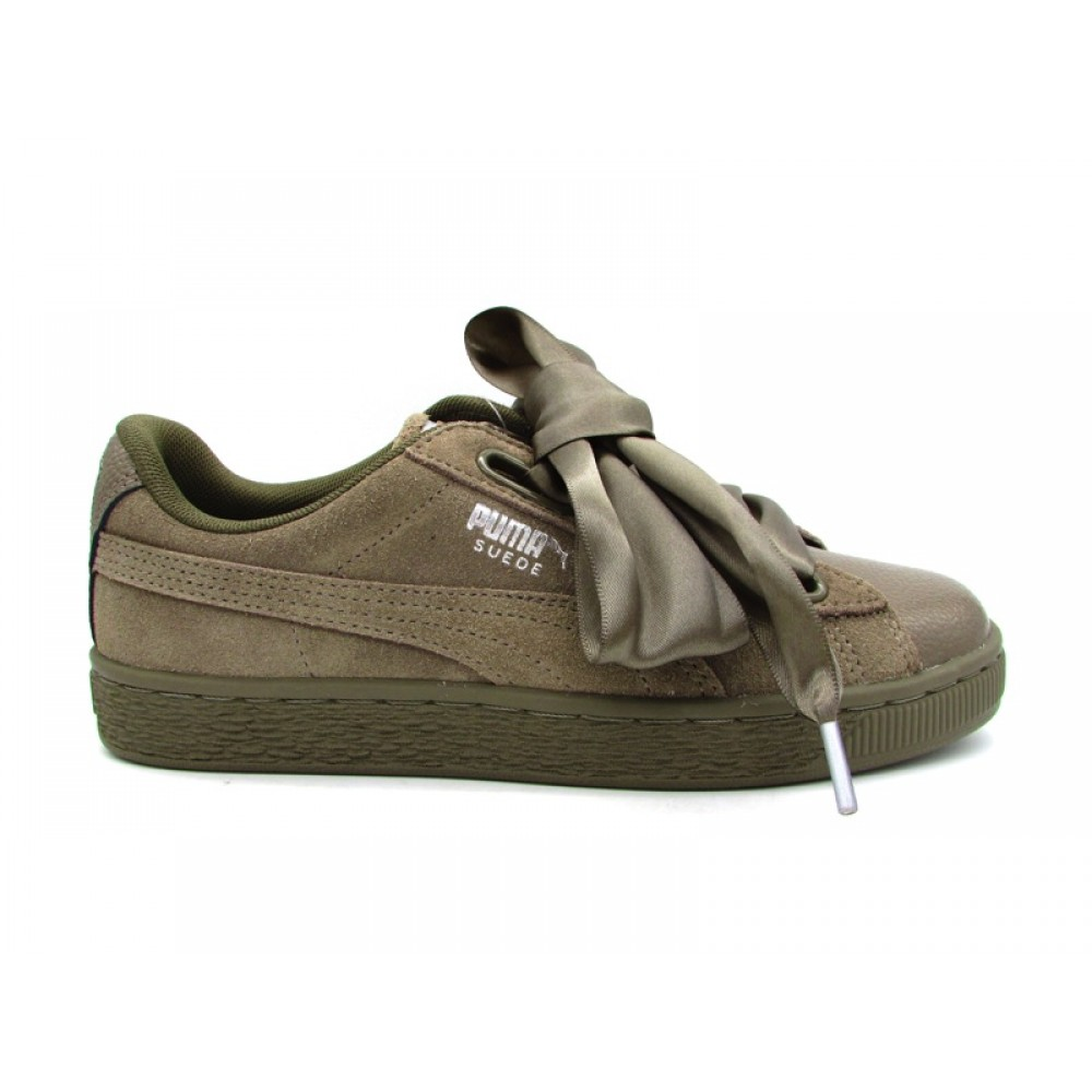 PUMA SUEDE HEART BUBBLE WN'S SNEAKERS GRIGIO 366441 03