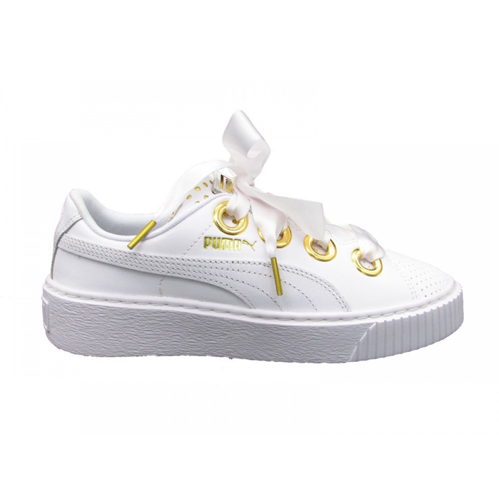PUMA PLATFORM KISS ATH LUX WN'S SNEAKERS BIIANCO 366704 366704 366704 01 Donna 661bfb