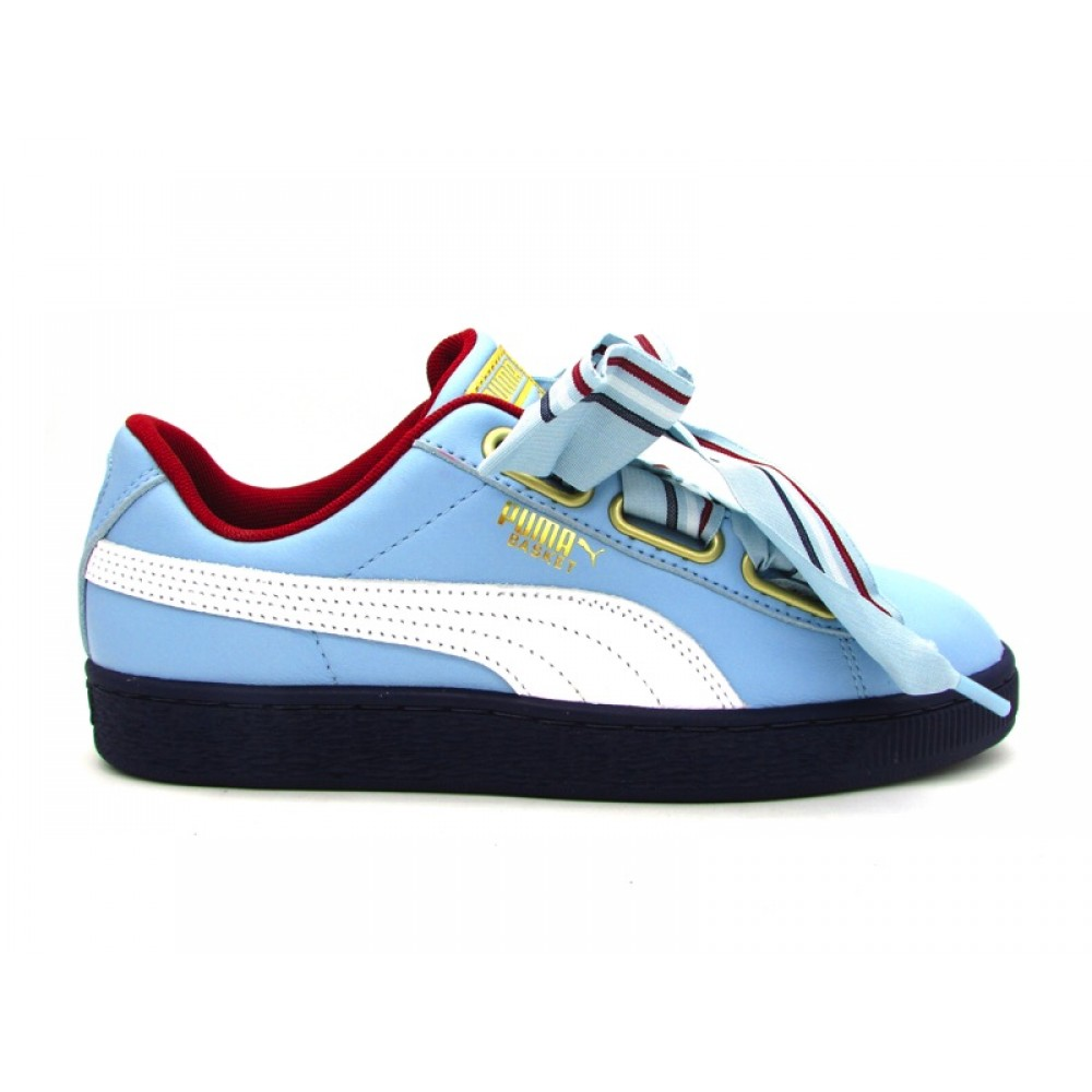 size 40 5cf4d 6882e PUMA SNEAKERS BASKET HEART NEW SCHOOL WN CELESTE BIANCO BLU ...