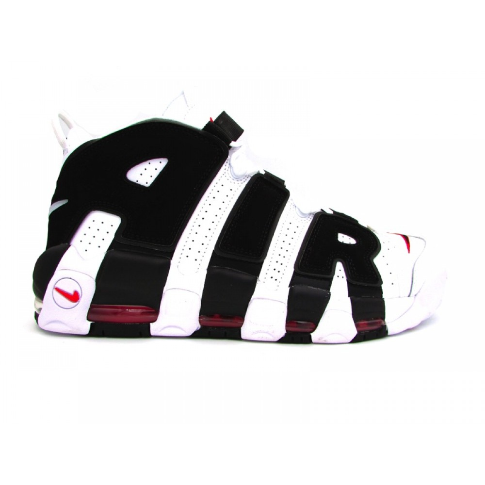 NIKE AIR MORE UPTEMPO '96 SNEAKERS BIANCO NERO 414962 105