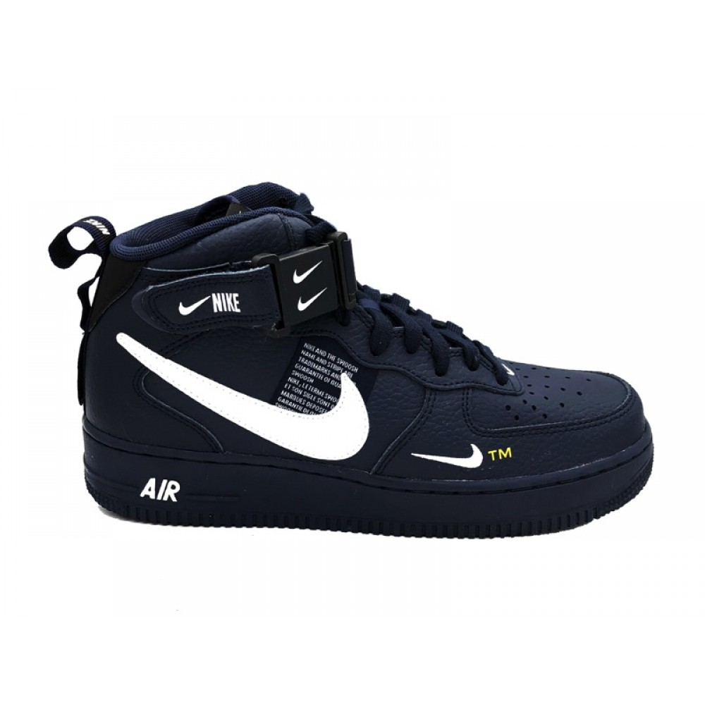 NIKE AIR FORCE 1 MID '07 LV8 SNEAKERS BLU BIANCO 804609 403