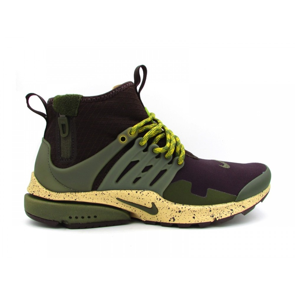 sports shoes 800ad fc85f NIKE AIR PRESTO MID UTILITY SNEAKERS MARRONE VERDE BEIGE 859524-200