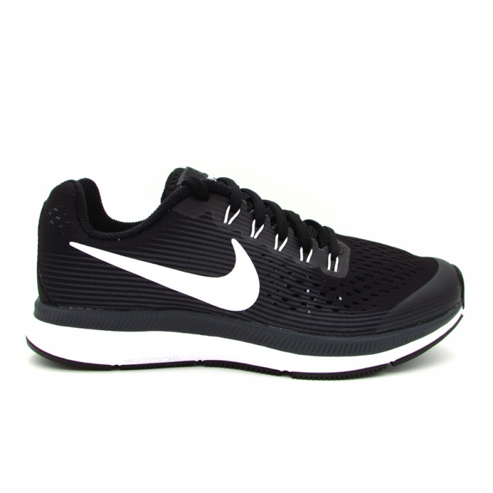 finest selection 6c3bd b838d NIKE ZOOM PEGASUS 34 (GS) SNEAKERS NERO BIANCO 881953-002