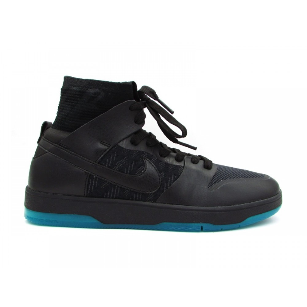 new product cccaf c141a NIKE SB ZOOM DUNK HIGH ELITE SNEAKERS NERO VERDE PETROLIO 917567-003