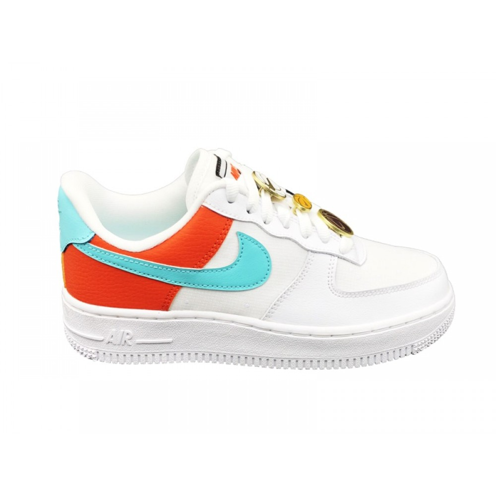 air force 1 arancioni e blu