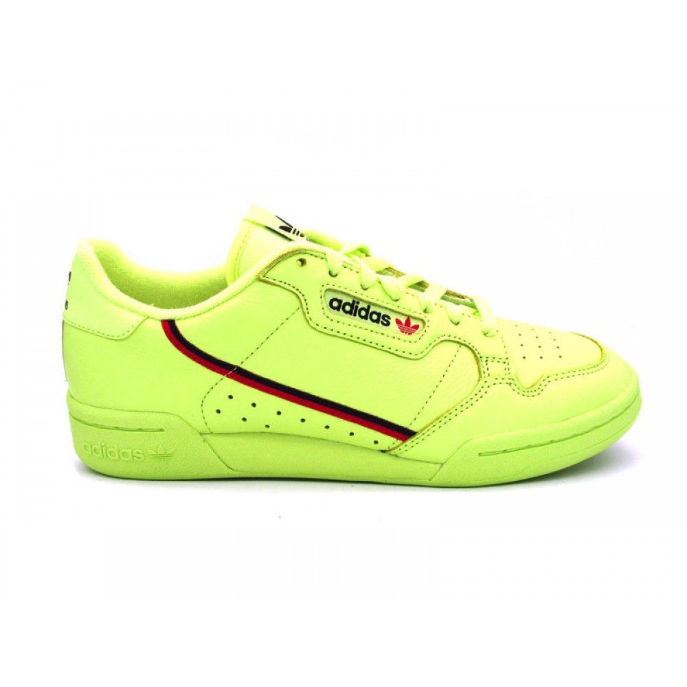 check out ac61b 806b8 ADIDAS CONTINENTAL 80 SNEAKERS GIALLO FLUO B41675