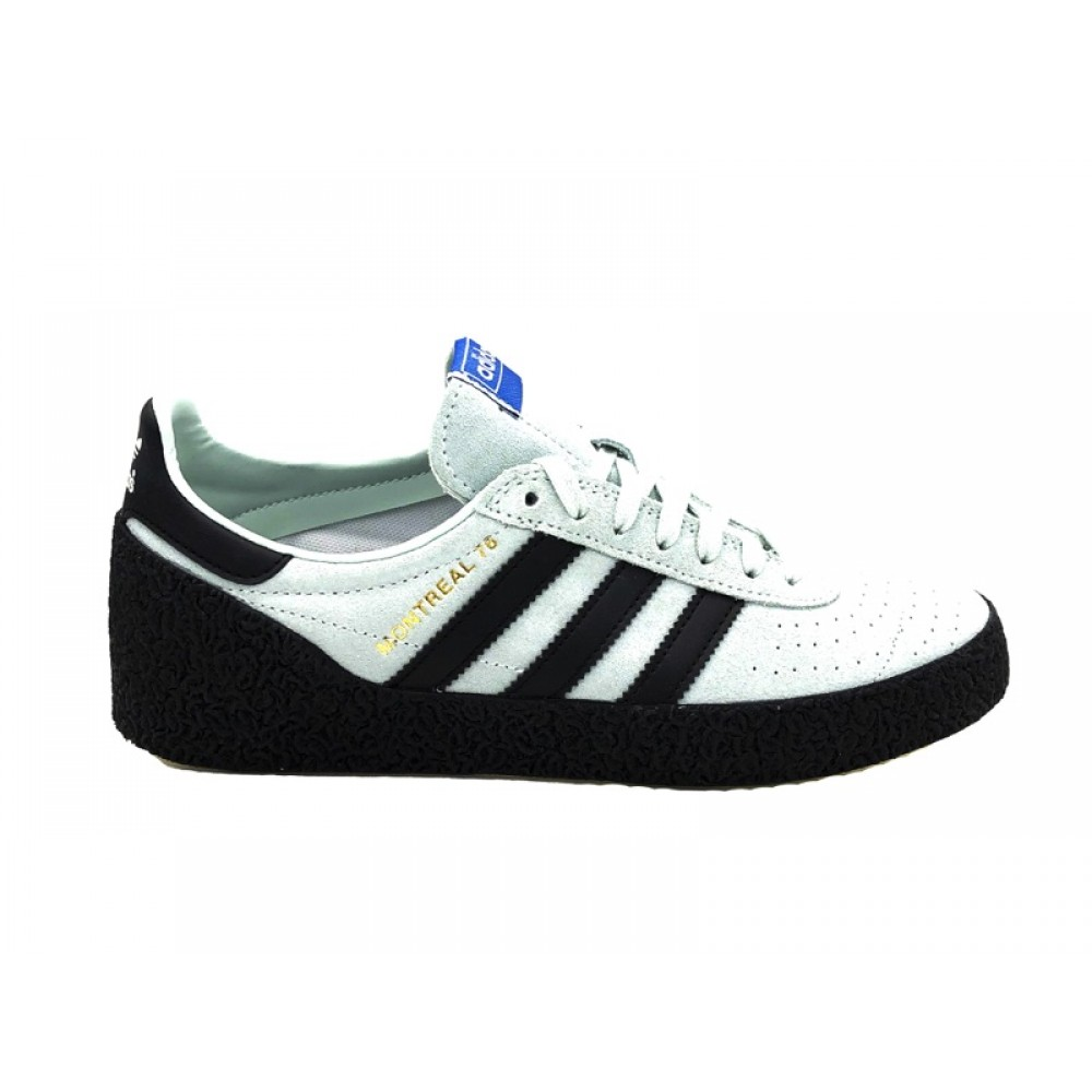 competitive price bda86 8d7bf ADIDAS MONTREAL 76 SNEAKERS CELESTE NERO BD7634