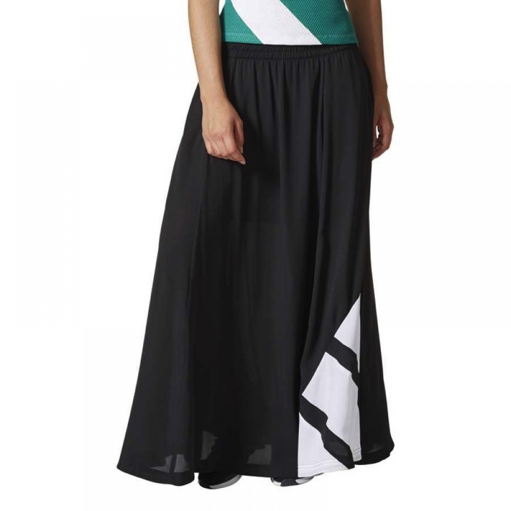 ADIDAS GONNA LUNGA EQT LONG SKIRT NEROBIANCO BP5085