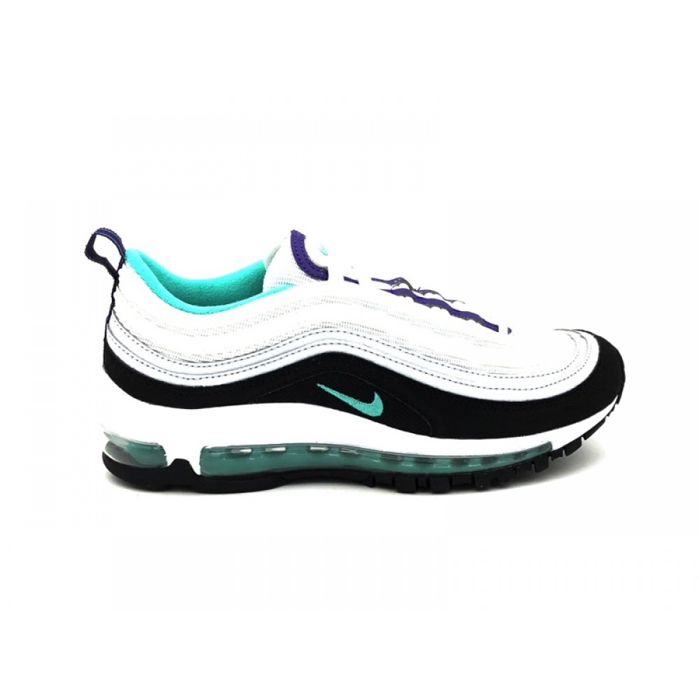 best authentic 21e6e ccb7c NIKE SNEAKERS AIR MAX 97 BG BIANCO NERO VIOLA VERDE BQ7551-101