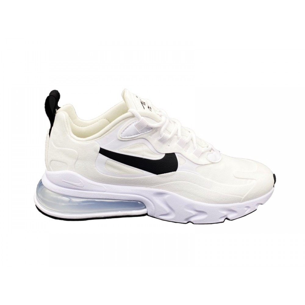 NIKE AIR MAX 270 REACT SNEAKERS BIANCO NERO CI3899 101