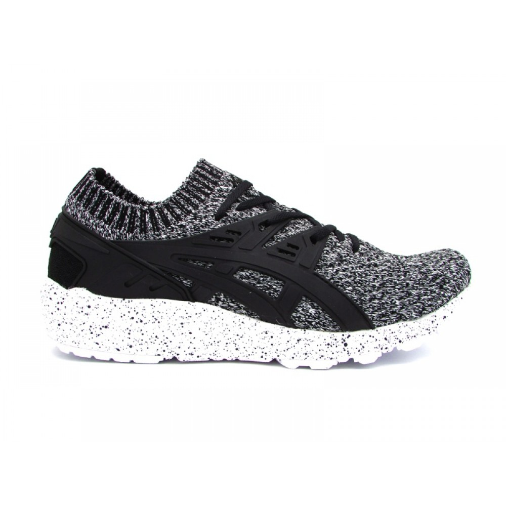ASICS GEL KAYANO TRAINER KNIT SNEAKERS BIANCO NERO HN7Q2 0190