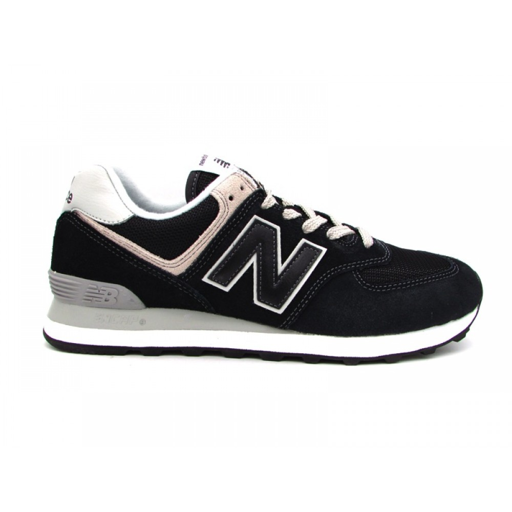 NEW BALANCE 574 SNEAKERS NERO GRIGIO ML574EGK