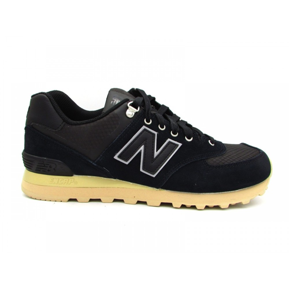 NEW BALANCE 574 SNEAKERS NERO BEIGE ML574PKP