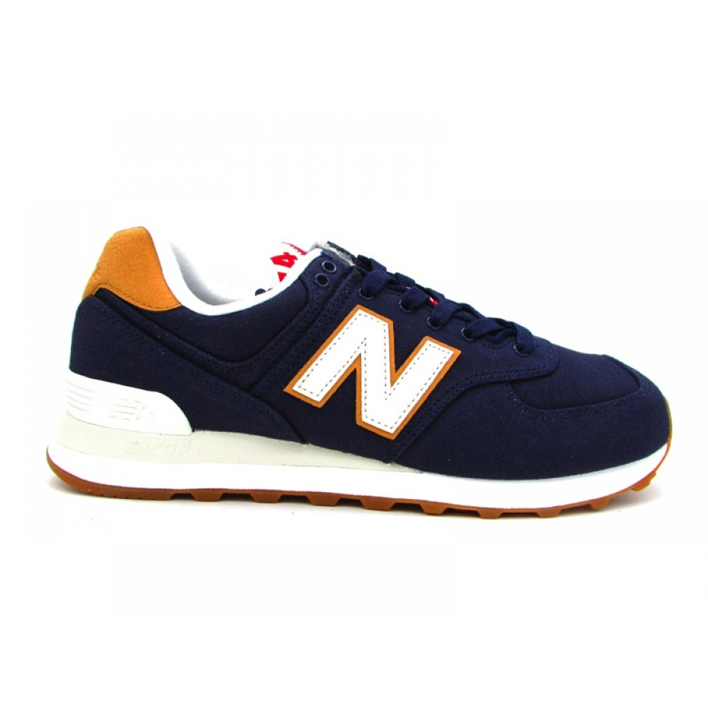 NEW BALANCE 574 SNEAKERS BLU MARRONE ML574YLC