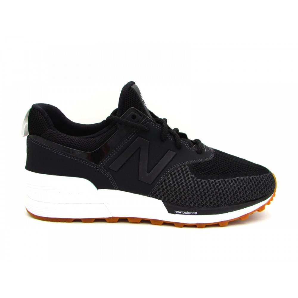 NEW BALANCE SNEAKERS 574 NERO BIANCO MS574EMK