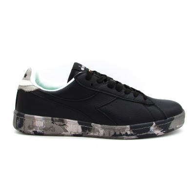 DIADORA SNEAKERS GAME LOW WAXED CAMOU NERO-CAMOUFLAGE VINTAGE 173122-80013