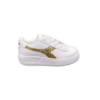 DIADORA GAME STEP PS SNEAKERS BIANCO ORO GLITTER 175084-C5363