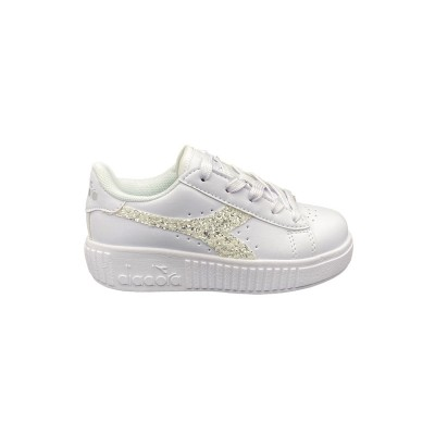 DIADORA GAME STEP PS SNEAKERS BIANCO GLITTER 175084-C6103