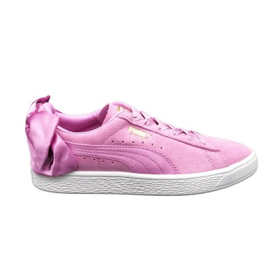 PUMA SNEAKERS SUEDE BOW JR ROSA BIANCO 367316-05