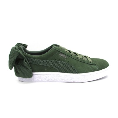 PUMA SNEAKERS SUEDE BOW UPRISING WN'S VERDE BIANCO 367455-02