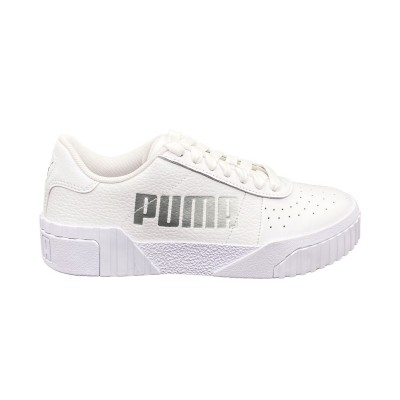 PUMA CALI STATEMENT WN'S SNEAKERS BIANCO ARGENTO 372847-01