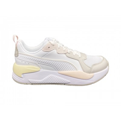 PUMA X-RAY GAME SNEAKERS BIANCO BEIGE ROSA GIALLO 372849-04