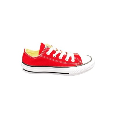 CONVERSE YTHS C/T ALL STAR OX SNEAKERS ROSSO BIANCO NERO 3J236C