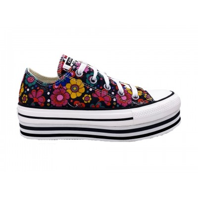 CONVERSE CTAS LAYER BOTTOM OX SNEAKERS MULTICOLORE 568001C