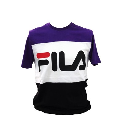 FILA MEN DAY TEE T-SHIRT VIOLA BIANCO NERO 681244.A063