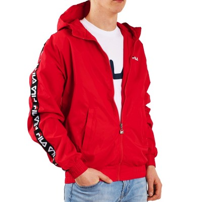 FILA MEN TACEY TAPE WIND JACKET GIACCA A VENTO ROSSO 682359.006