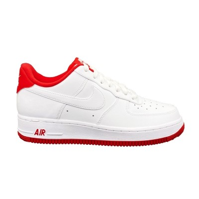 NIKE AIR FORCE 1 '07 1 SNEAKERS BIANCO ROSSO CD0884-101