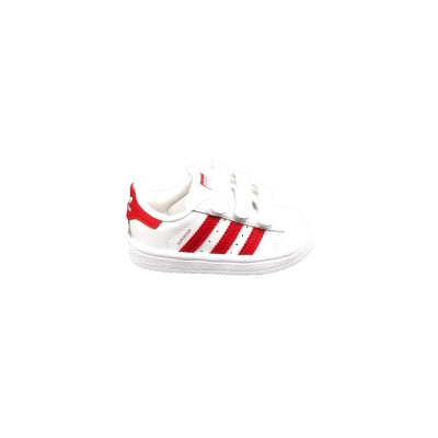 ADIDAS SNEAKERS SUPERSTAR CF I BIANCO ROSSO CG6639