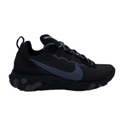 NIKE REACT ELEMENT 55 PREMIUM SNEAKERS NERO GRIGIO CI3835-002