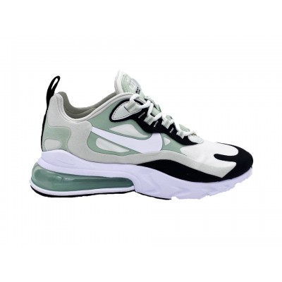 NIKE AIR MAX 270 REACT SNEAKERS VERDE BIANCO NERO CI3899-001