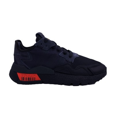 ADIDAS NITE JOGGER SNEAKERS NERO ROSSO FV3618