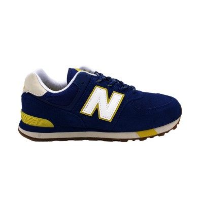 NEW BALANCE 574 SNEAKERS BLU GIALLO PANNA GC574JHP