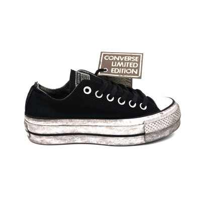 CONVERSE SNEAKERS CTAS OX LIFT CANVAS LTD BLACK SMOKE IN 564528C