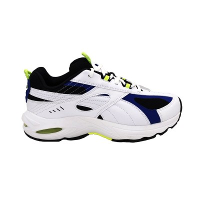 PUMA CELL SPEED SNEAKERS BIANCO NERO BLU GIALLO 370700-02