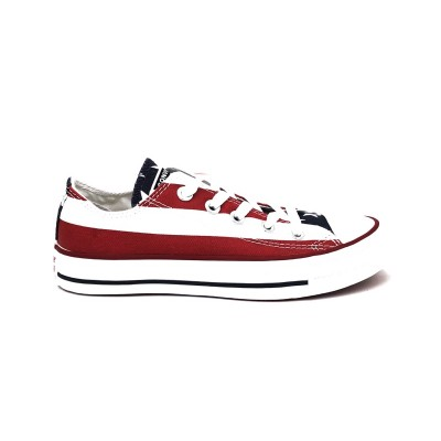 CONVERSE CTAS ALL STARS & BARS OX SNEAKERS BIANCO ROSSO BLU M3494